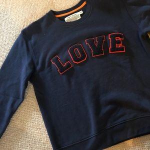 Tory Burch Crewneck LOVE Sweatshirt